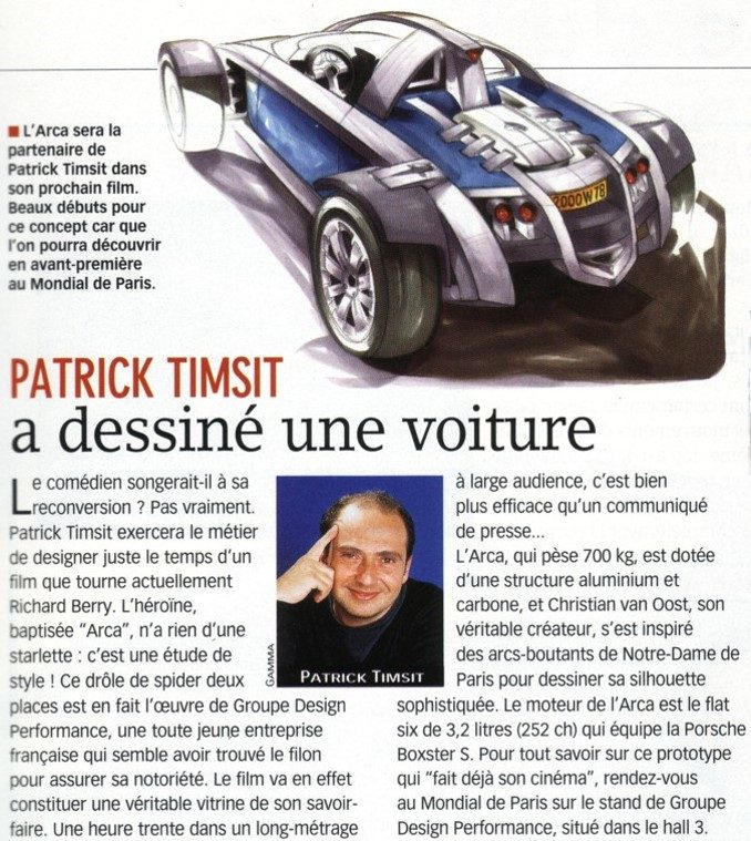 ARCA Patrick Timsit